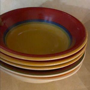 Red Dinner Bowls